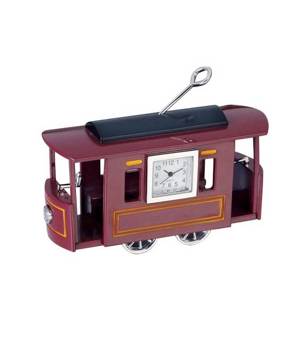 GoGifts Tram Analog Clock(Maroon)